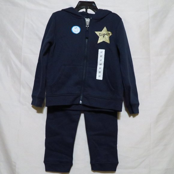 NWT Carter's 2-pc sweats outfit girl's 5T